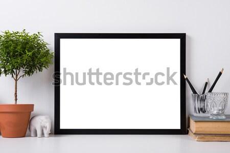 Modern lakberendezés vázlat keret belső tárgyak Stock fotó © manera