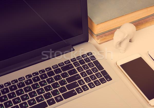 современных работу пространстве ноутбука служба объекты Сток-фото © manera