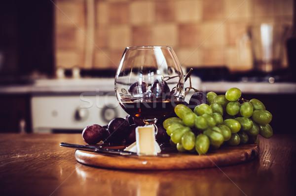 glass of brandy Stock photo © manera