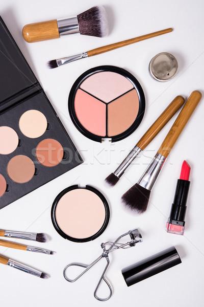 プロ 化粧 ツール 白 製品 キット ストックフォト © manera