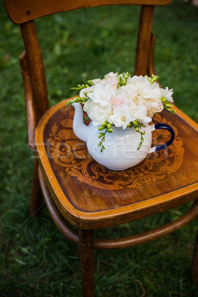 Verano boda fiesta decoración frescos Foto stock © manera