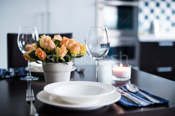home table setting Stock photo © manera