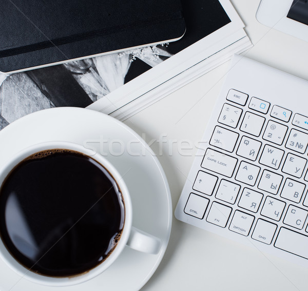 Oficina interior primer plano moderna taza café Foto stock © manera