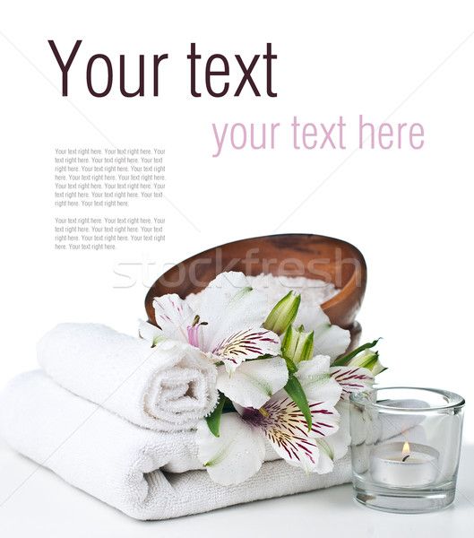 Spa higiene aislado listo plantilla blanco Foto stock © manera