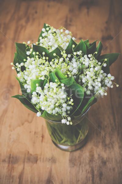 Vallée vase rustique table Photo stock © manera