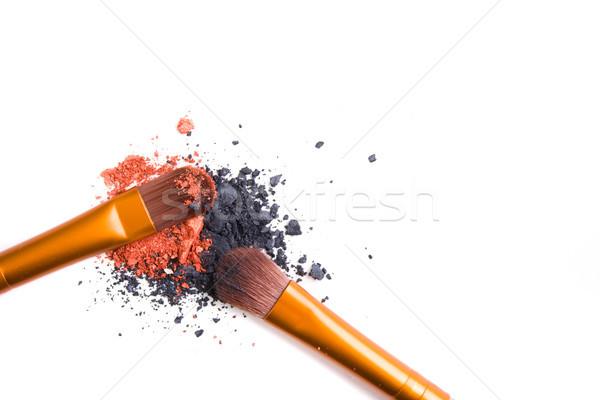 Profi smink szett bő por izolált Stock fotó © manera
