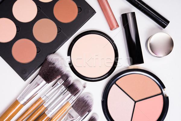 Сток-фото: профессиональных · макияж · инструменты · белый · продукции