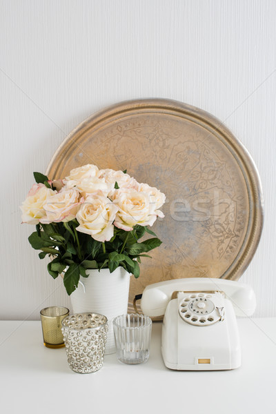 Apartment decoration retro style Stock photo © manera