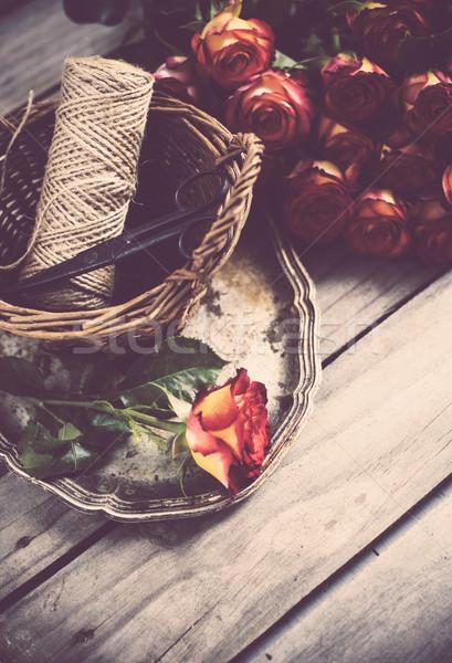 Floristic background with roses Stock photo © manera