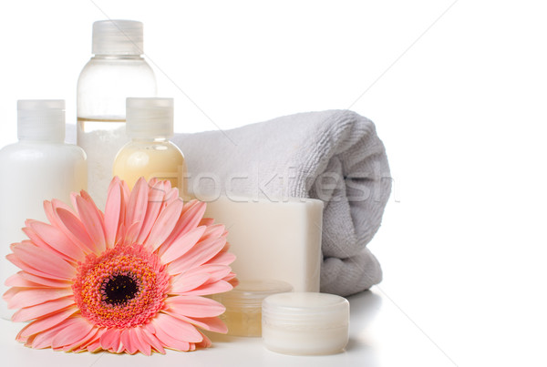 Foto d'archivio: Prodotti · spa · corpo · care · igiene · bianco