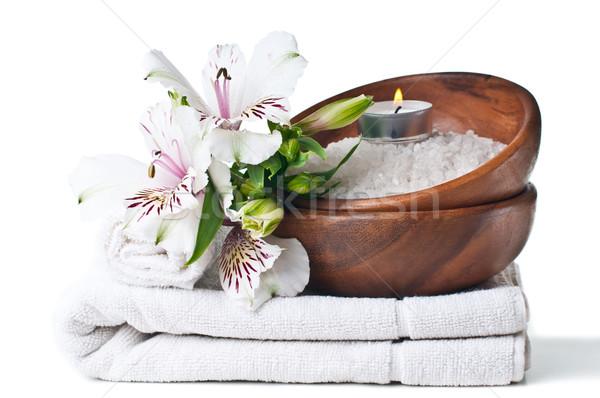 ресурсы Spa белый полотенце цветок ароматический Сток-фото © manera