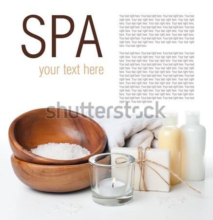 Producten spa lichaam zorg hygiëne witte Stockfoto © manera