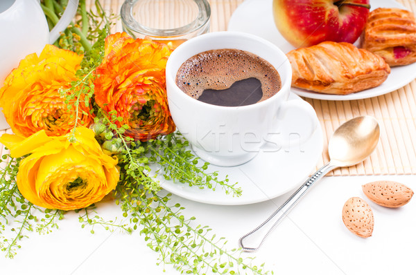Elegante vers ontbijt koffie vruchten Stockfoto © manera