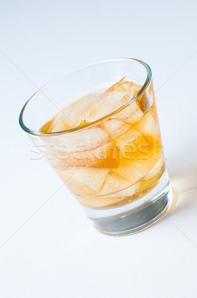 Bevanda fredda ghiaccio vetro acqua frutta arancione Foto d'archivio © manera