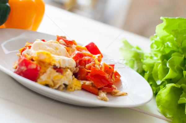 домой завтрак Sweet красный перец специи Сток-фото © manera