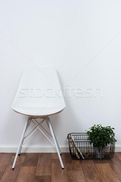 Basit nesneler minimalist beyaz iç Stok fotoğraf © manera