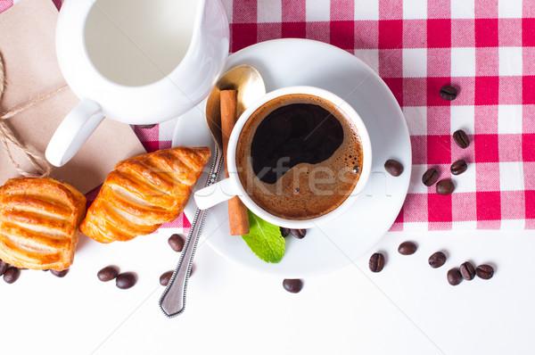 Сток-фото: завтрак · красивой · кофе · скатерть