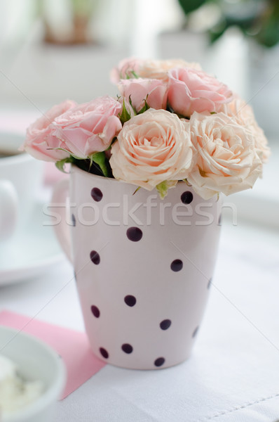 bouquet of delicate pink roses Stock photo © manera