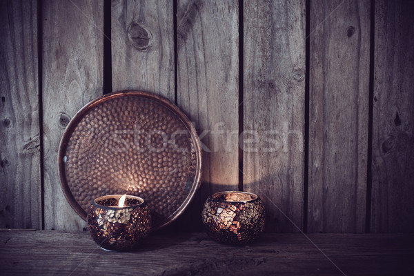 candles and a copper tray Stock photo © manera
