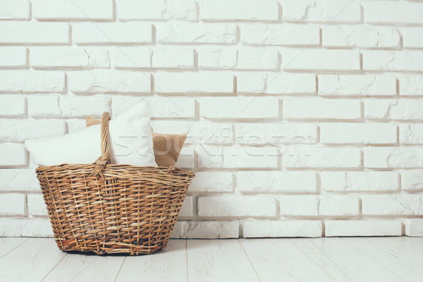 Wicker basket with a pillow Stock photo © manera