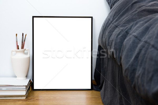 Pusty klasyczny czarny ramki piętrze minimalny Zdjęcia stock © manera