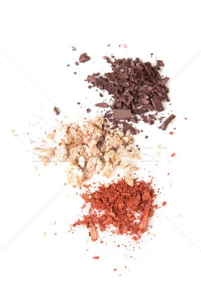 Satyna proszek kosmetycznych odizolowany makro shot Zdjęcia stock © manera