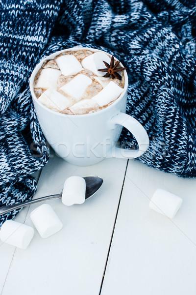 Stockfoto: Gezellig · winter · home · beker · hot · heemst