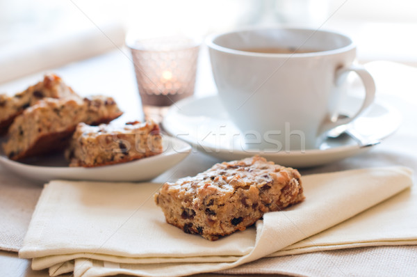 Homemade biscuits and a cup of tea Stock photo © manera