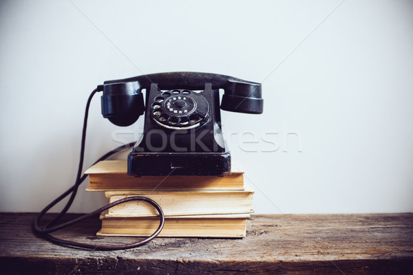 Stock photo: vintage rotary phone