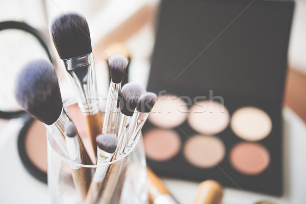 Professional makeup brushes and tools Stock photo © manera