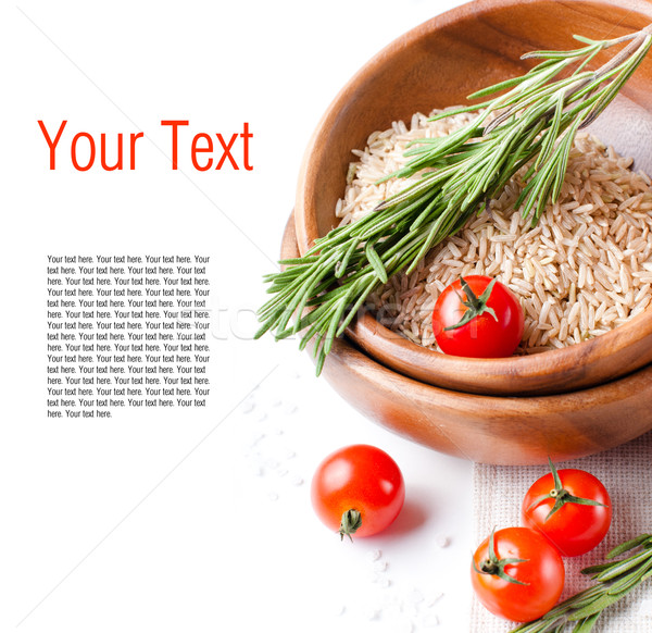 Template of vegetarian food Stock photo © manera