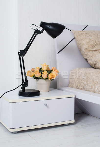 Bright white bedroom Stock photo © manera