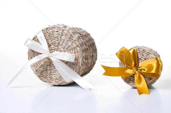 Kettő fonott dobozok doboz szalagok különböző Stock fotó © manera