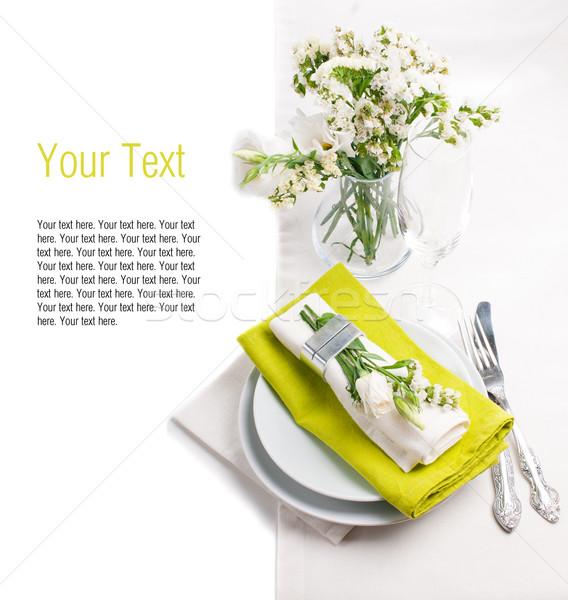 Festive table setting template Stock photo © manera
