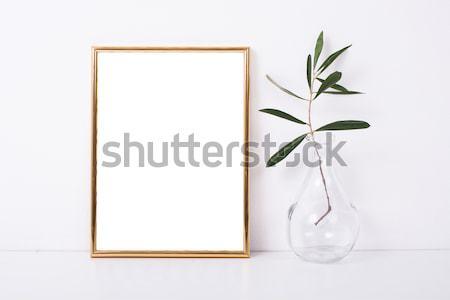 Two golden frames mock-up Stock photo © manera