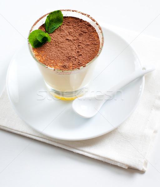vanilla dessert with cocoa Stock photo © manera