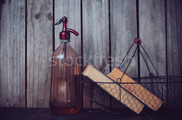 siphon and vintage books Stock photo © manera