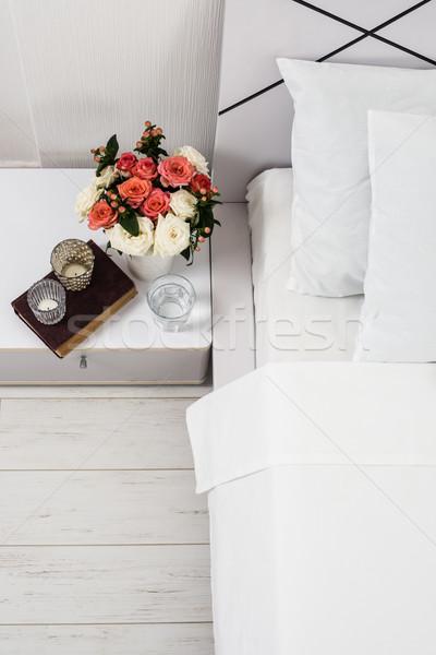 таблице интерьер белый спальня новых Сток-фото © manera