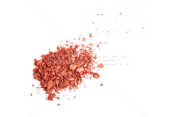 Satin Pulver kosmetischen isoliert Makro erschossen Stock foto © manera
