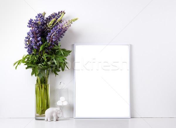 Modern home decor mock-up Stock photo © manera