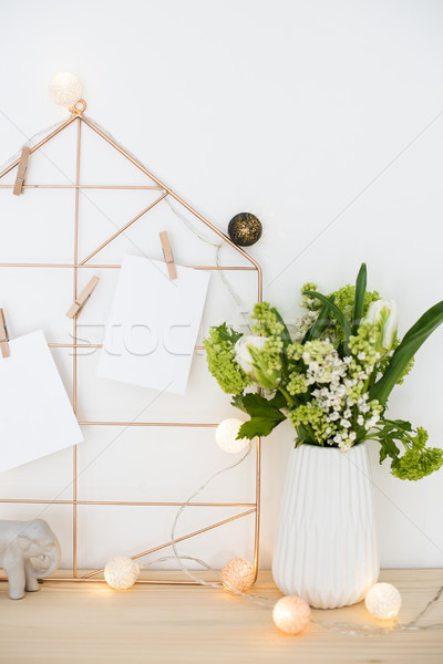 женский служба таблице украшение цветы Сток-фото © manera