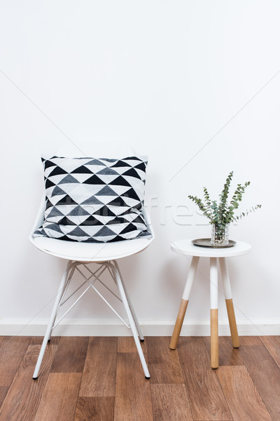 simple decor objects, minimalist white interior Stock photo © manera