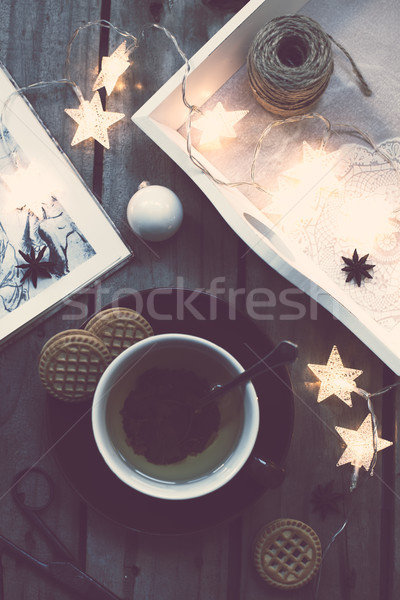 Cozy holidays at home Stock photo © manera