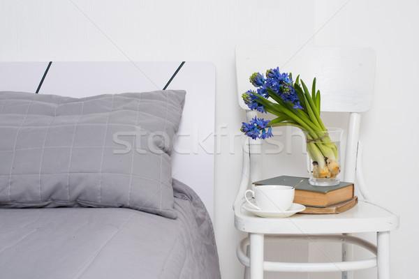 Quarto interior limpar branco copo Foto stock © manera