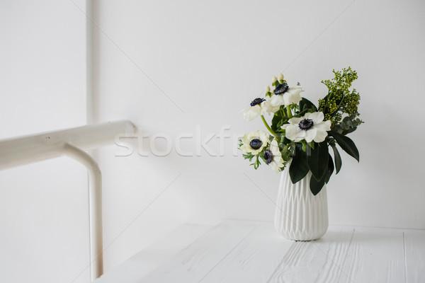 Stock photo: Elegant bouquet of anemones