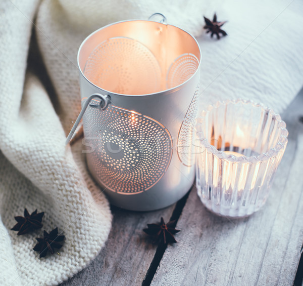 Cosy and soft winter background Stock photo © manera