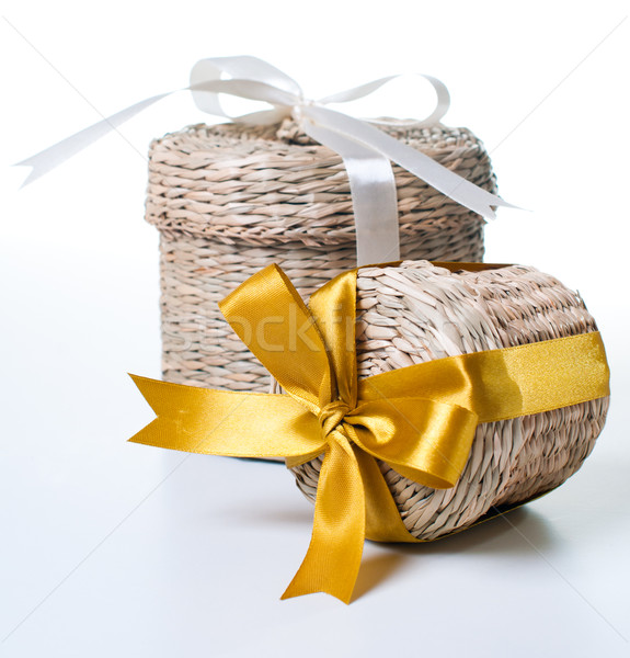 Two wicker boxes Stock photo © manera