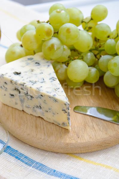 ブドウ ブルーチーズ ボード 木材 チーズ ディナー ストックフォト © manera