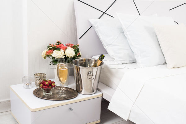 Champagne in bed Stock photo © manera