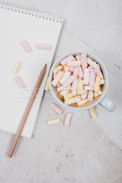 служба таблице кофе белый женский Сток-фото © manera